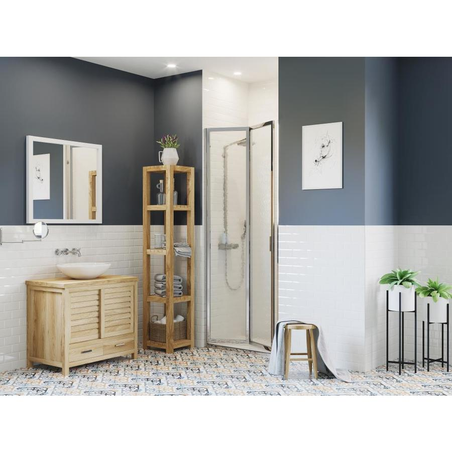 Coastal Shower Doors Paragon 66 In H X 30 In To 30 75 In W Framed Bifold Chrome Shower Door Frosted Glass In The Shower Doors Department At Lowes Com