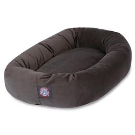 Majestic Pet Products Chocolate Faux Suede Oval Dog Bed (For Large Breed Dog) 788995674016