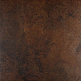FLOORS 2000 6-Pack Oriente Dark Brown Glazed Porcelain Floor Tile (Actual: 17.75-in x 17.75-in) ORIENTTOPAZIO