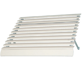 Americana Wide Projection White Door Awning at Lowes ...