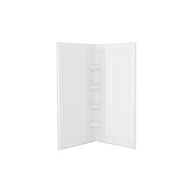 American Standard Axis White Shower Wall Surround Corner ...