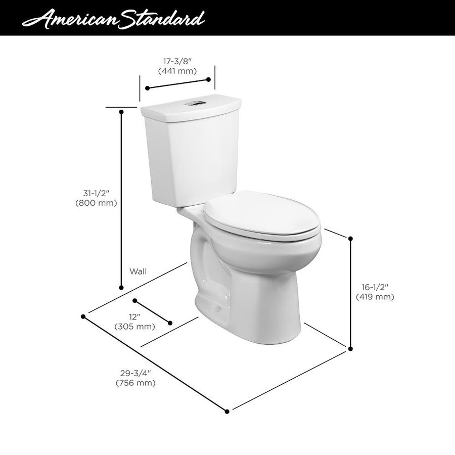 American Standard H2option White Watersense Dual Flush Elongated Chair Height 2 Piece Toilet 12 In Rough In Size In The Toilets Department At Lowes Com