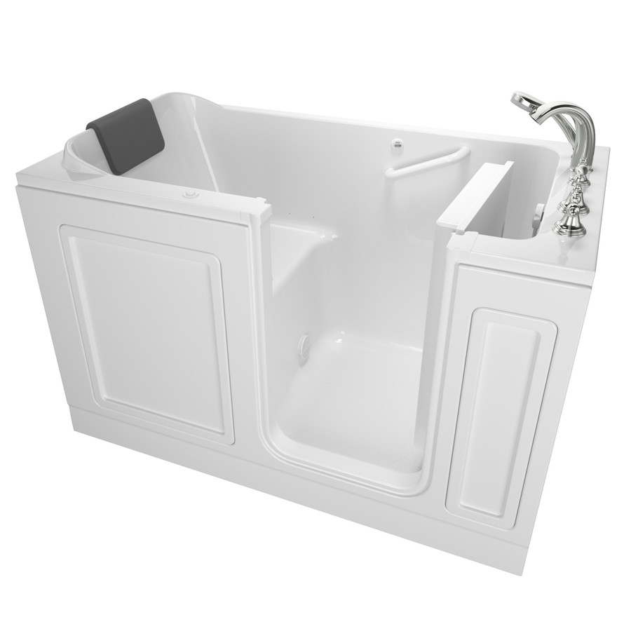 American Standard 32-In W X 59.5-In L White Acrylic Rectangular Right-Hand Drain Walk-In Air Bath And Faucet Included 32