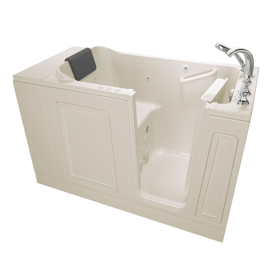 American Standard 50.5In L X 30-In W X 37.5In H Linenrylic Rectangular Walk-In Whirlpool Tub And Air Bath 3051.119.CRL