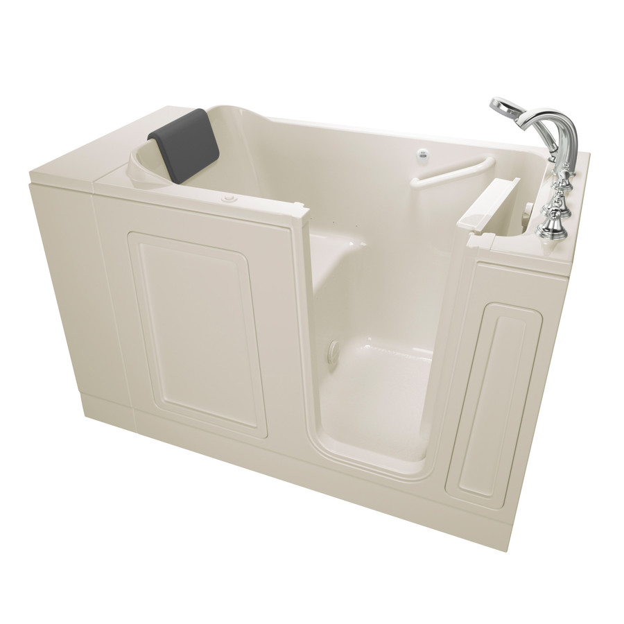 American Standard 30-In W X 50.5-In L Linen Acrylic Rectangular Right-Hand Drain Walk-In Air Bath And Faucet Included 30