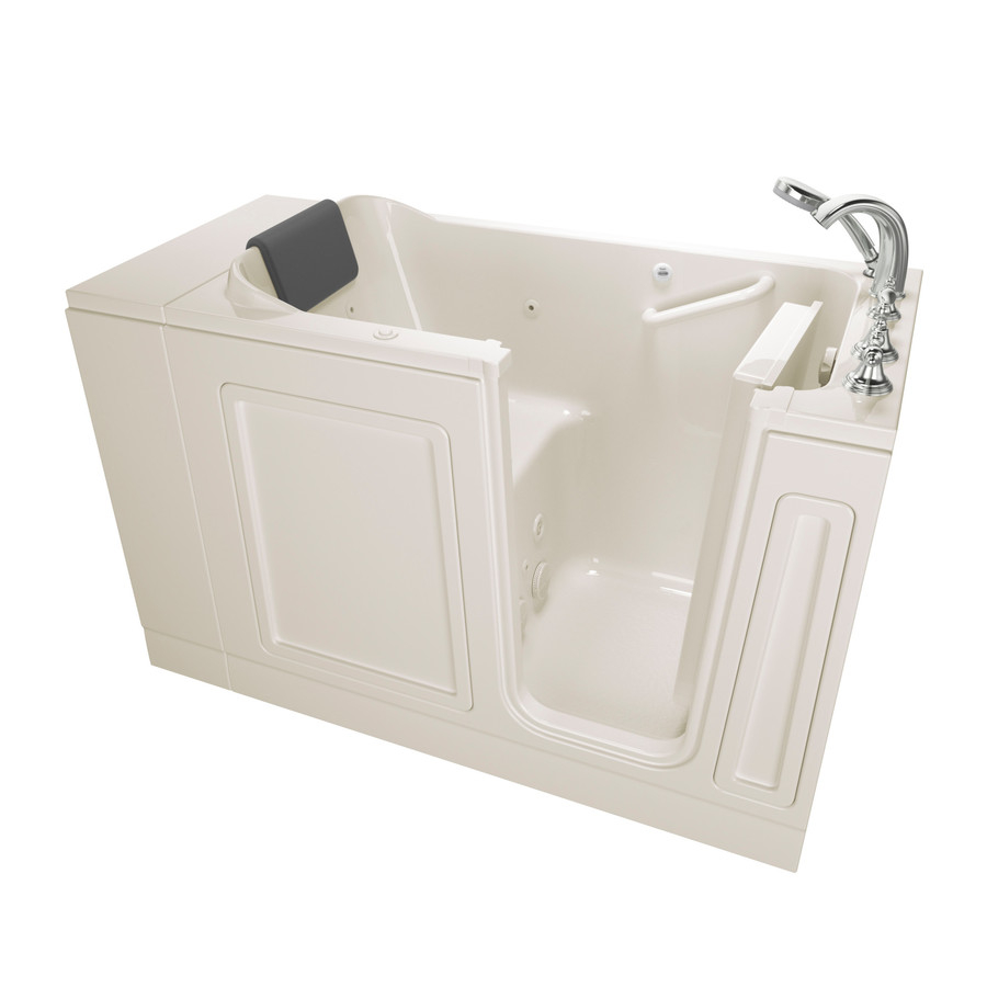 American Standard 28-In W X 48-In L Linen Acrylic Rectangular Right-Hand Drain Walk-In Whirlpool Tub And Faucet Included