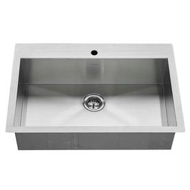 display product reviews for 33 in x 22 in stainless steel single basin - White Undermount Kitchen Sink