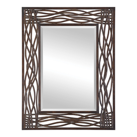 "Global Direct 42"" x 32"" Dorigrass Rectangle Framled Mirror"
