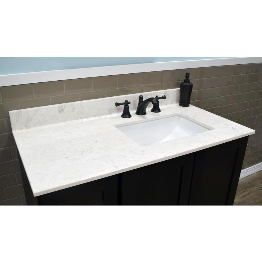 Us Marble 43 In Steel Gray On White Cultured Marble Bathroom Vanity Top In The Bathroom Vanity Tops Department At Lowes Com
