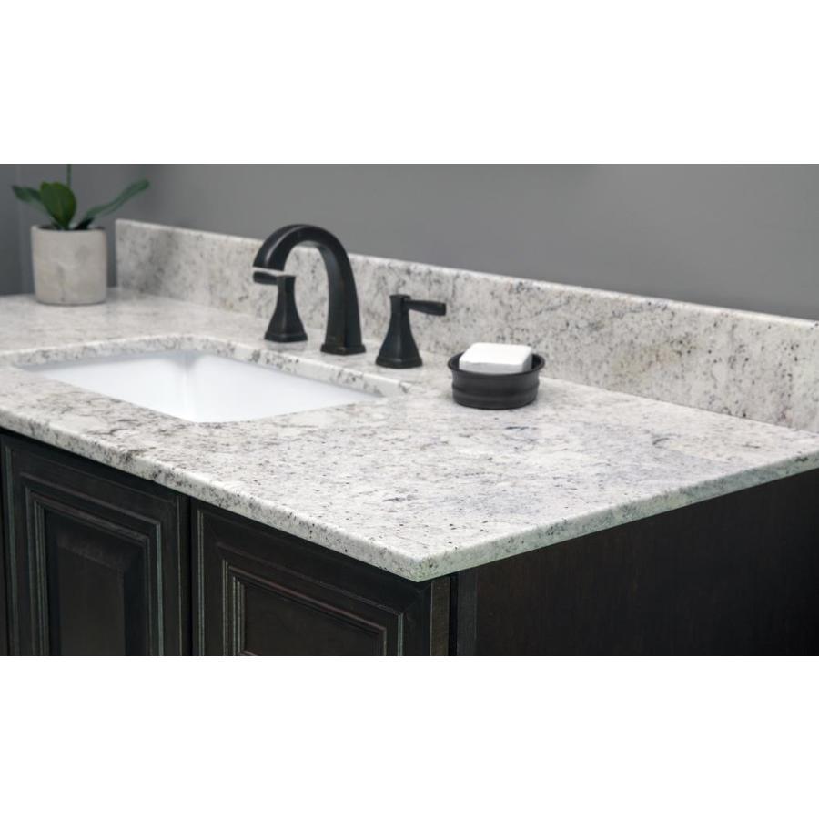 Us Marble Natural Granite 37 In Salinas White Granite Bathroom Vanity Top In The Bathroom Vanity Tops Department At Lowes Com