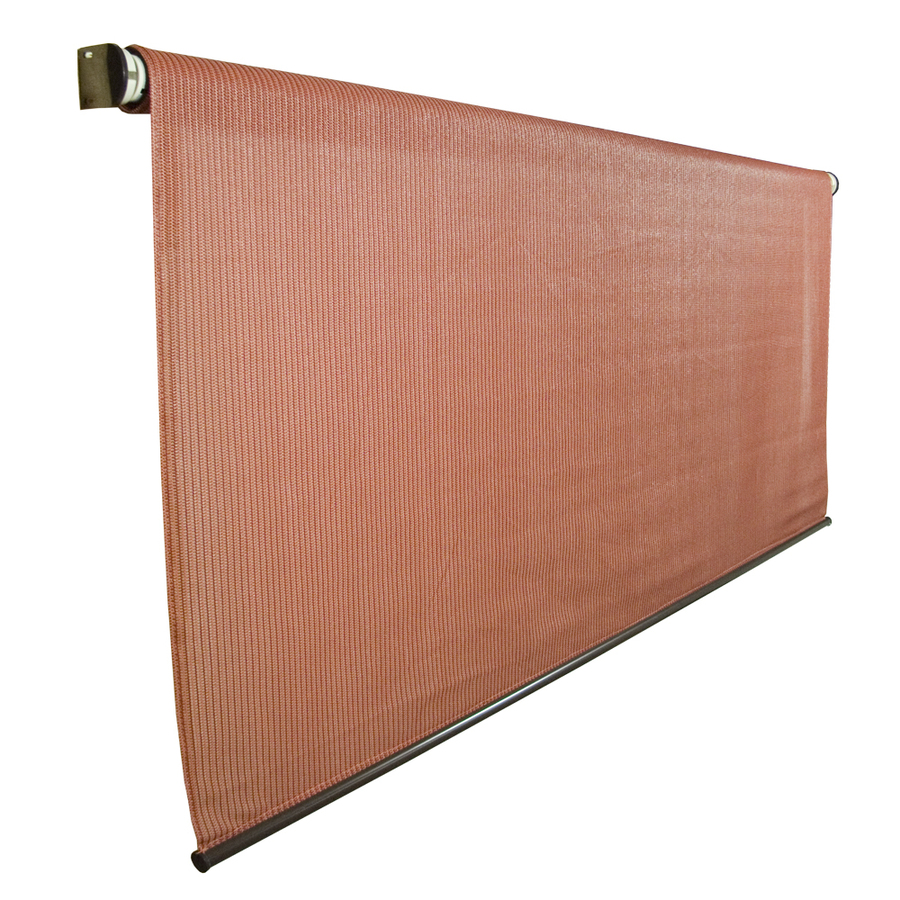 Coolaroo Exterior Sun Shades Lowes: Shop Coolaroo 72-in W X 72-in L Terracotta Light Filtering