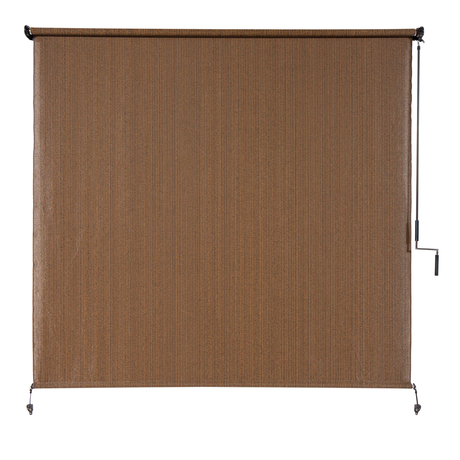 Coolaroo Exterior Sun Shades Lowes: Shop Coolaroo 96-in W X 72-in L Mocha Light Filtering