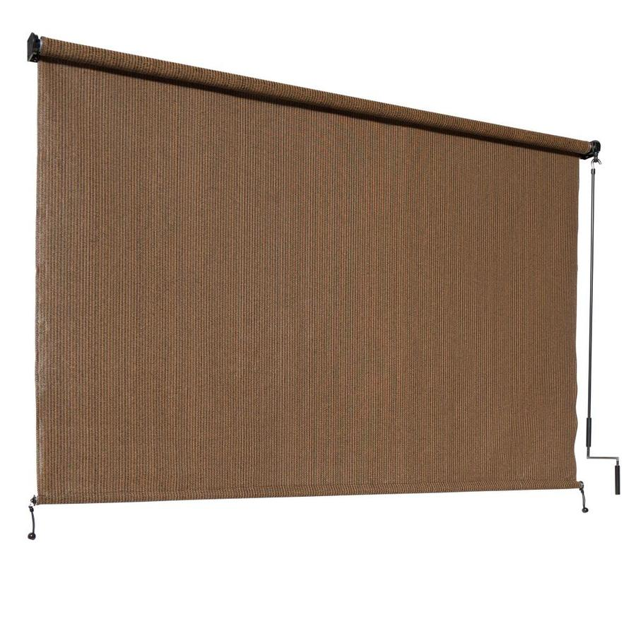 Coolaroo Outback Exterior Roller Shade 120 In X 72 In Mocha Light Filtering Cordless Outdoorroller Shade In The Window Shades Department At Lowes Com