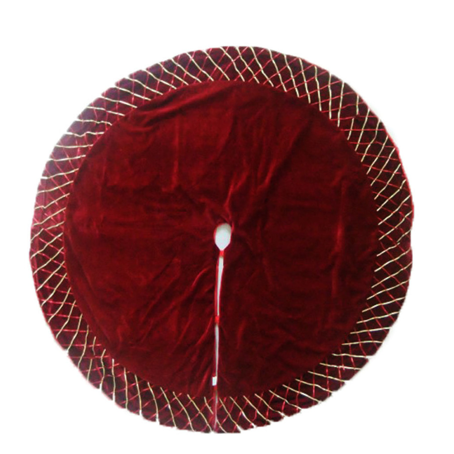 Lowes Christmas Tree Skirts: Shop Holiday Living 56-in Burgundy Polyester Christmas