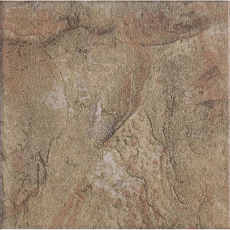 shop style selections 13 in x 13 in canyon slate glazed porcelain floor tile at. Black Bedroom Furniture Sets. Home Design Ideas