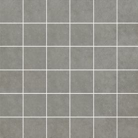 Style Selections 12-in x 12-in Mitte Gray Glazed Porcelain Mosaic Square Medallion Tile G3CC15MO