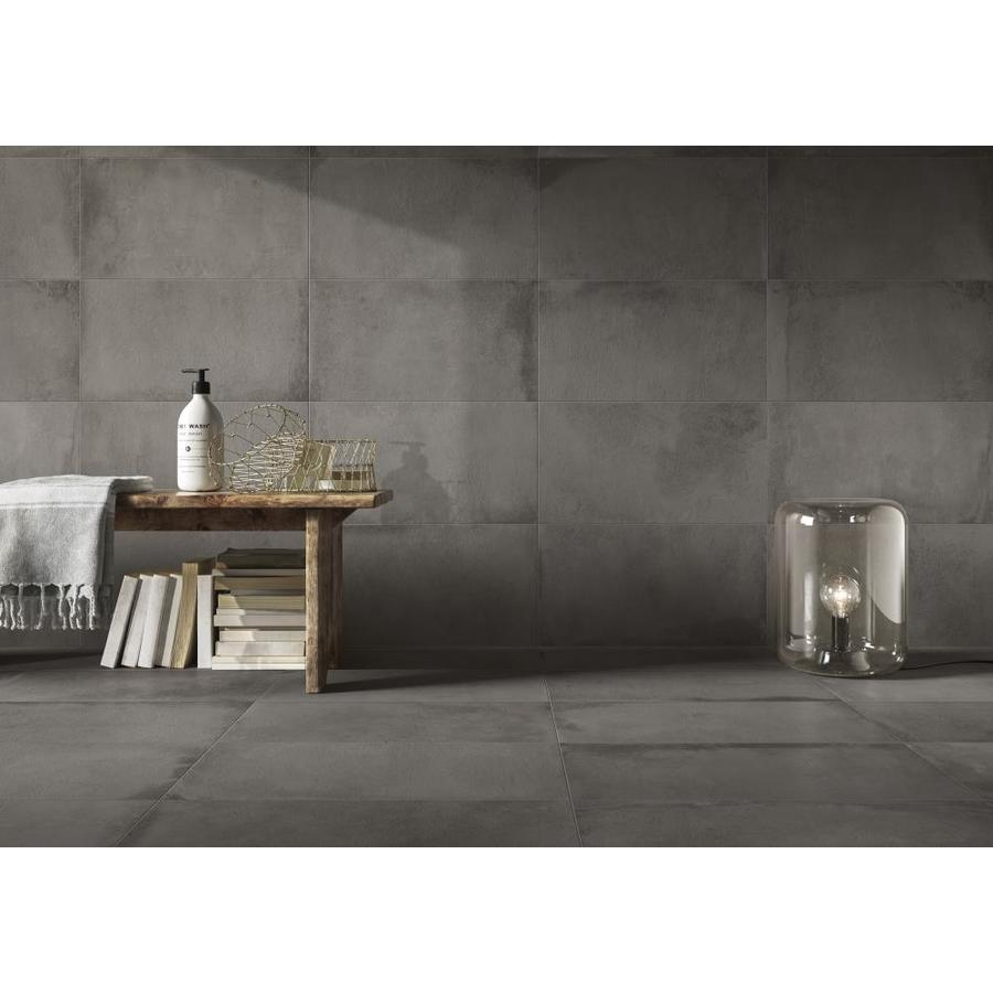Emser Borigni 3 Pack Gray 18 In X 36 In Glazed Porcelain Cement Look Floor And Wall Tile In The Tile Department At Lowes Com