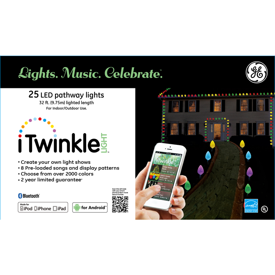 Ge Itwinkle Light 25 Marker Color Changing Christmas Light Bulb Christmas Pathway Markers In The Christmas Pathway Markers Department At Lowes Com