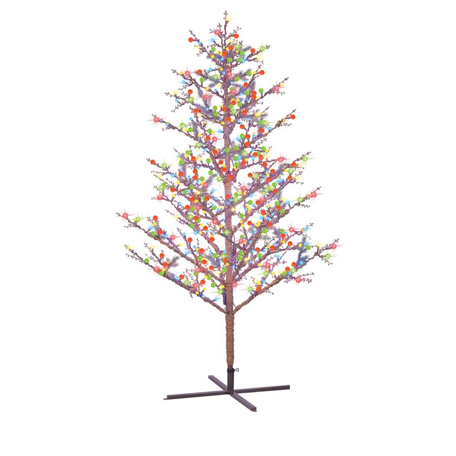 8 Christmas Tree Pre Lit: Shop GE 8-ft Indoor/Outdoor Pre-Lit Winterberry Artificial