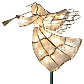 Ge 10-In Angel Off-White Christmas Tree Topper