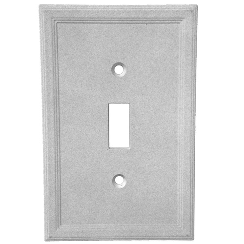 Somerset Collection Somerset 1-Gang Gray Single Standard Wall Plate SWP202-12
