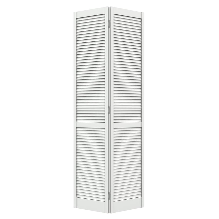Shop Reliabilt Louvered Solid Core Pine Bifold Closet Door