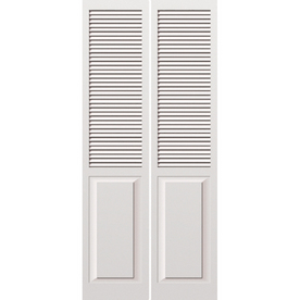 Lowes Reliabilt Louvered Amp Panel Wood Interior Bifold Door