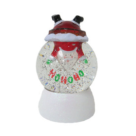Holiday Living Pre-Lit Santa Snow Globe with Constant White LED Lights 661606B