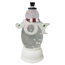 Holiday Living Pre-Lit Snowman Snow Globe with Constant White LED Lights 661458B