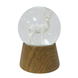 Holiday Living Musical Deer Snow Globe 6795880