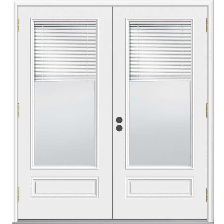 Shop jeld wen 71 5 in blinds between the glass composite - Outswing exterior french doors with blinds ...