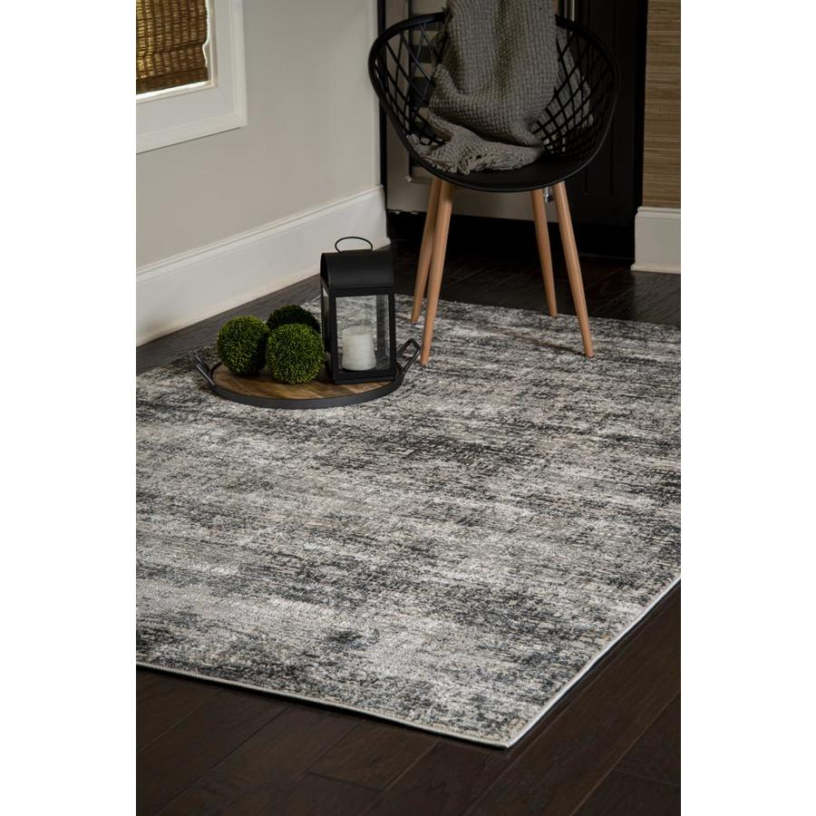 United Weavers Of America Veronica 2 X 3 Gray Indoor Abstract Mid Century Modern Area Rug In The Rugs Department At Lowes Com