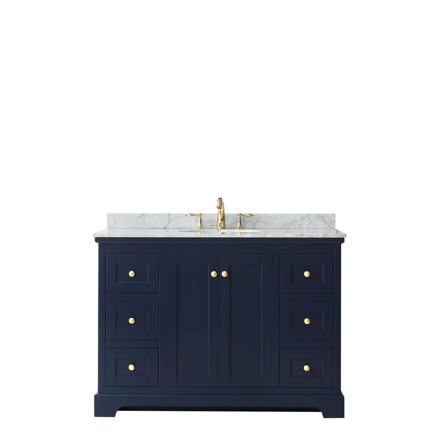 - Wyndham Collection Avery 48-in Dark Blue Single Sink Bathroom