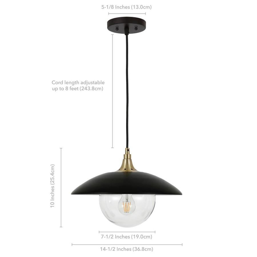Hailey Home Alvia Blackened Bronze Traditional Bell Led Pendant Light In The Pendant Lighting Department At Lowes Com