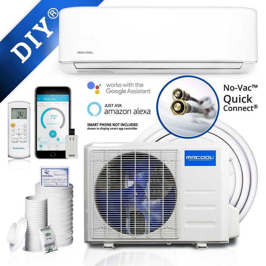 Mrcool Diy 2Nd Gen Enhanced 34400-Btu 1500-Sq Ft Single Ductless Mini Split Air Conditioner With Heater Diy-36-Hp-230Ae