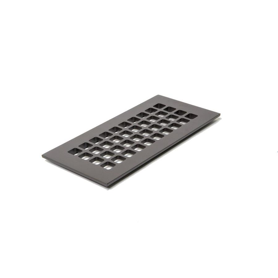 Reggio Register Square Oil Rubbed Bronze Floor Register (Duct Opening: 12-In X 4-In; Outside: 5.5-In X 14-In) G614-Arbh