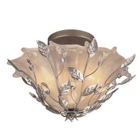 Display product reviews for 15.87-in W Brushed nickel Etched Glass Semi-Flush Mount  sc 1 st  Loweu0027s & Shop Semi-Flush Mount Lights at Lowes.com azcodes.com