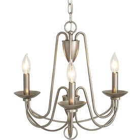 Wintonburg 18.03-in 3-Light Brushed Nickel Williamsburg Candle Chandelier