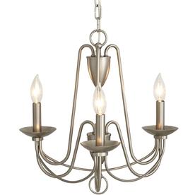 Wintonburg 18.03-in 3-Light Brushed Nickel Williamsburg Candle Chandelier