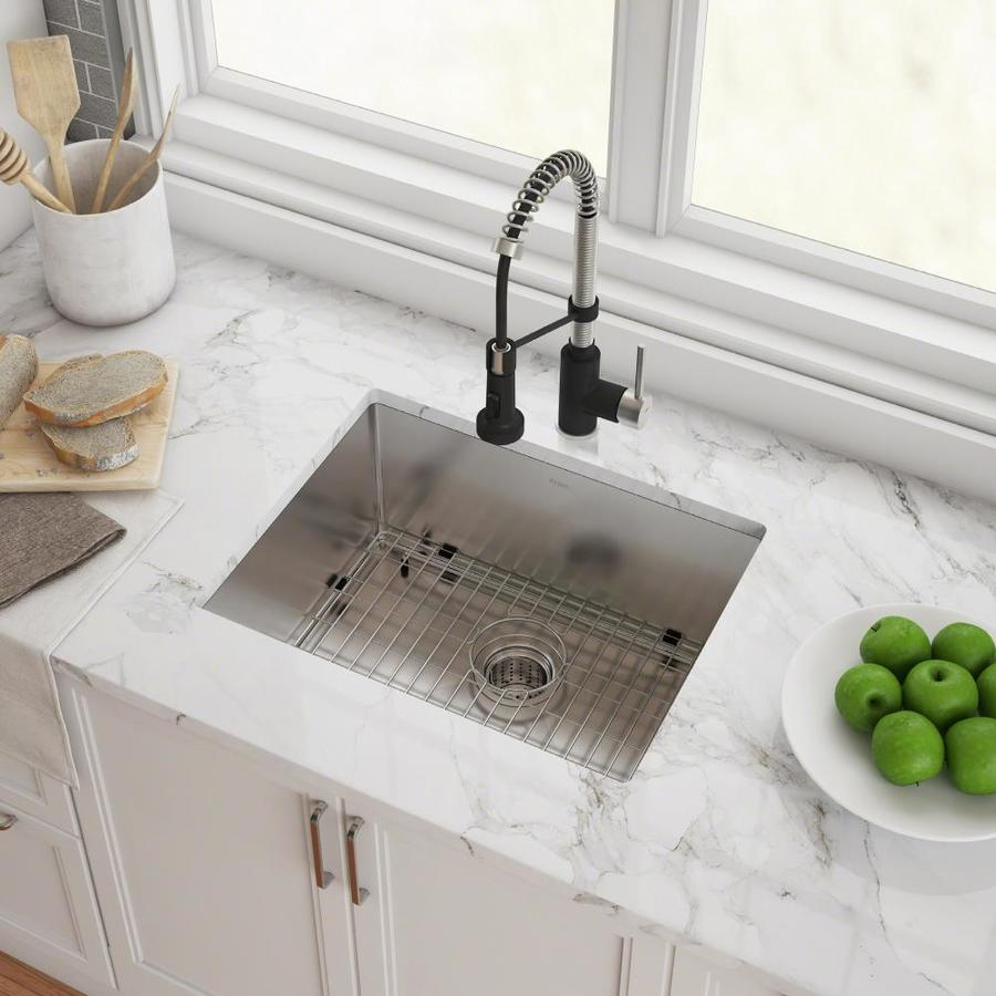 Kraus Standart Pro Undermount 23 In X 18 In Stainless Steel Single Bowl Kitchen Sink In The Kitchen Sinks Department At Lowes Com