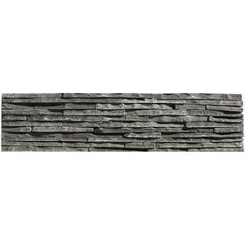 Solistone 6-Pack 6-in x 23-1/2-in Portico Slate Black Natural Stone Wall Tile ALCAZAR