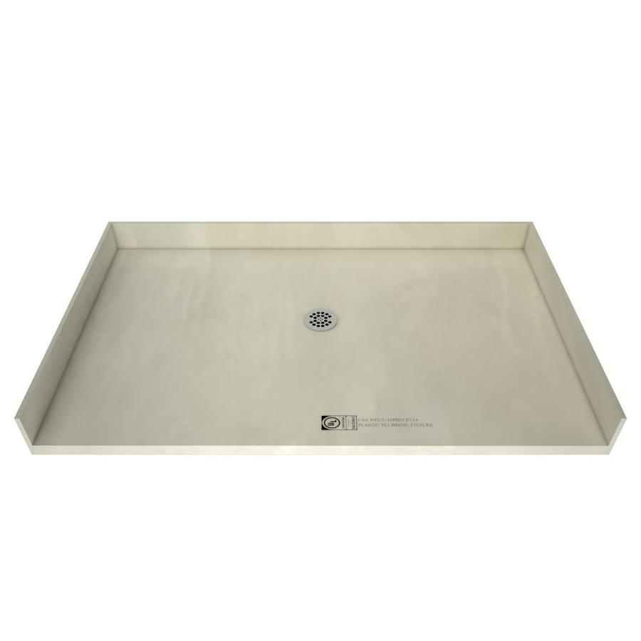 Redi Free Made For Tile Molded Polyurethane Shower Base 35-in W x 63-in L with Center Drain in Gray | 3563CBF-PVC