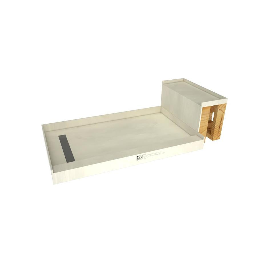 Base'n Bench Made For Tile Molded Polyurethane Shower Base 42-In W X 72-In L With Left Drain Rt4260l-Sbn-Rb42-Kit
