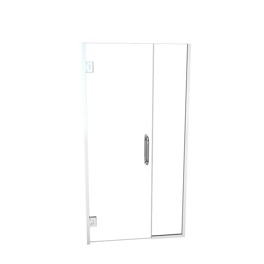 Redi Swing 72 In H X 47 0625 In To 48 5625 In W Frameless Hinged Polished Chrome Shower Door Clear Glass In The Shower Doors Department At Lowes Com