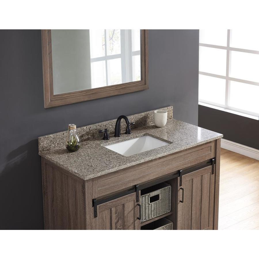Bestview Castle Rock 49 In Brown Polished Quartz Single Sink Bathroom Vanity Top In The Bathroom Vanity Tops Department At Lowes Com