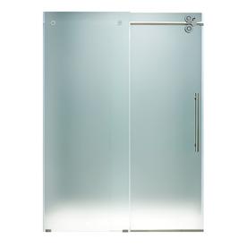 Vigo 25 5 8 In W X 74 H Frameless Sliding Shower Door Vg6041chmt4874r