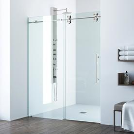 Display product reviews for Elan 56-in to 60-in Frameless Stainless Steel Sliding & Shop Shower Doors at Lowes.com