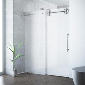 Shop shower doors at lowes display product reviews for elan 56 in to 60 in frameless stainless steel sliding planetlyrics Image collections