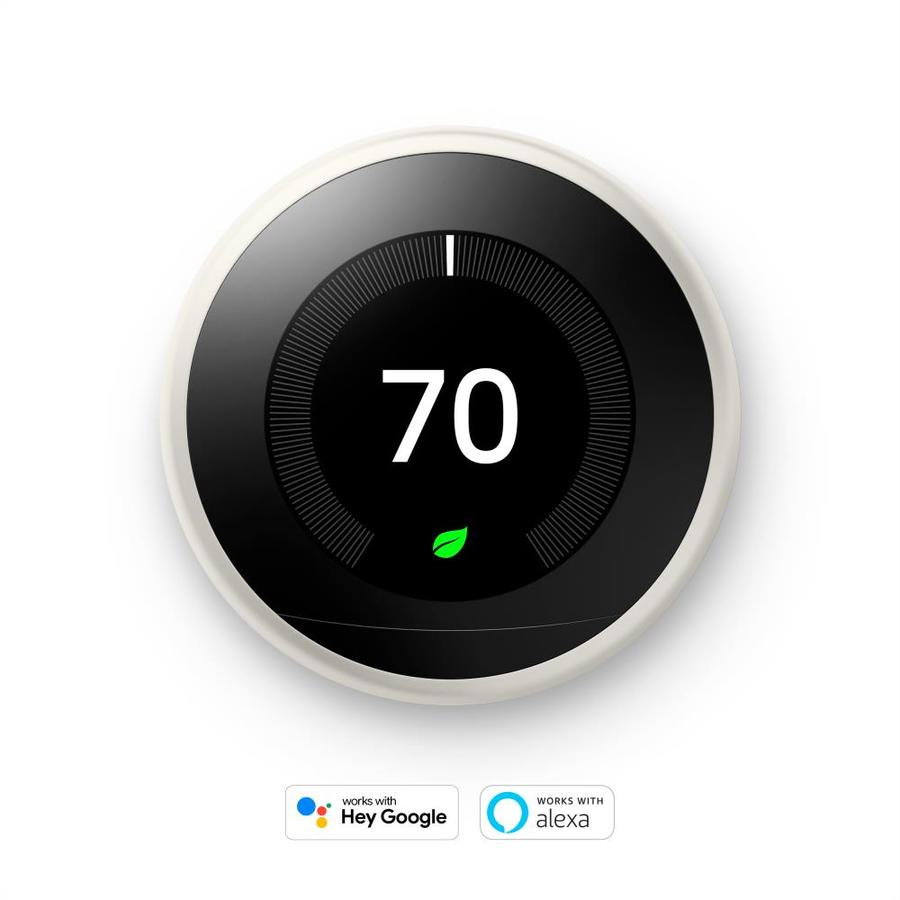 Google Nest Learning Smart Thermostat with WiFi Compatibility (3rd Generation) - White | T3017US