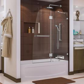 Dreamline Aqua Lux 48-In W X 58-In H Frameless Bathtub Do...